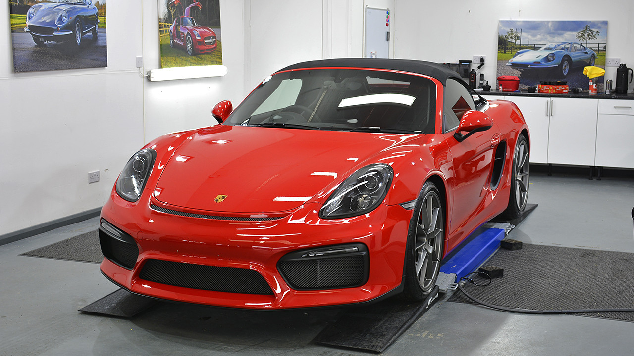 Porsche Boxster Spyder - New Car Detail & Paint Protection Film Installation   Exclusive Car Care 37