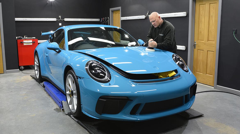 SunTek Ultra PPF & Gtechniq Protection for a Miami Blue Porsche 991.2 GT3 | Exclusive Car Care 11