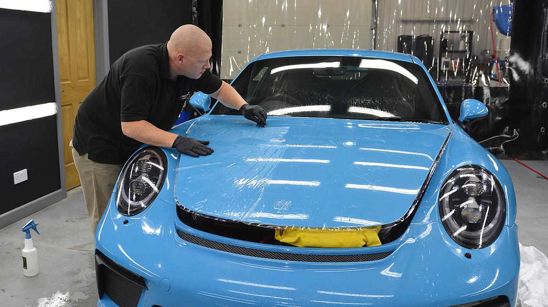 SunTek Ultra PPF & Gtechniq Protection for a Miami Blue Porsche 991.2 GT3 | Exclusive Car Care 12
