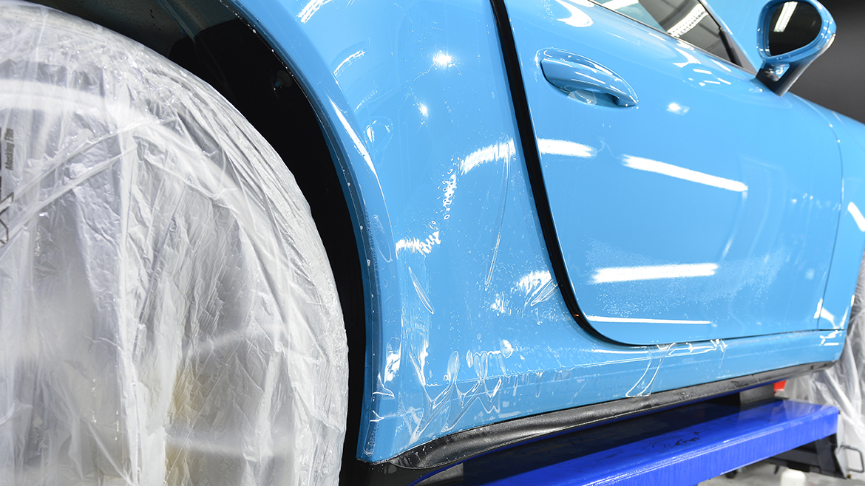 SunTek Ultra PPF & Gtechniq Protection for a Miami Blue Porsche 991.2 GT3 | Exclusive Car Care 14