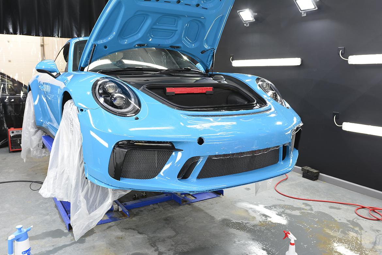 SunTek Ultra PPF & Gtechniq Protection for a Miami Blue Porsche 991.2 GT3 | Exclusive Car Care 16