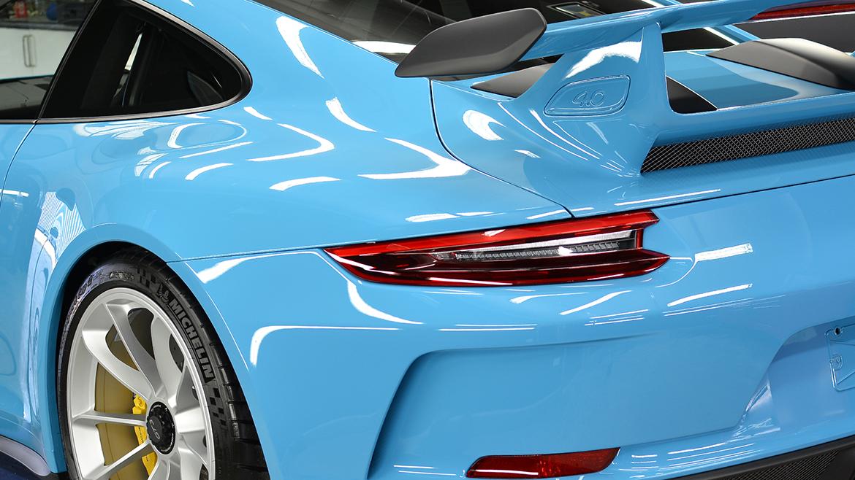 SunTek Ultra PPF & Gtechniq Protection for a Miami Blue Porsche 991.2 GT3 | Exclusive Car Care 26