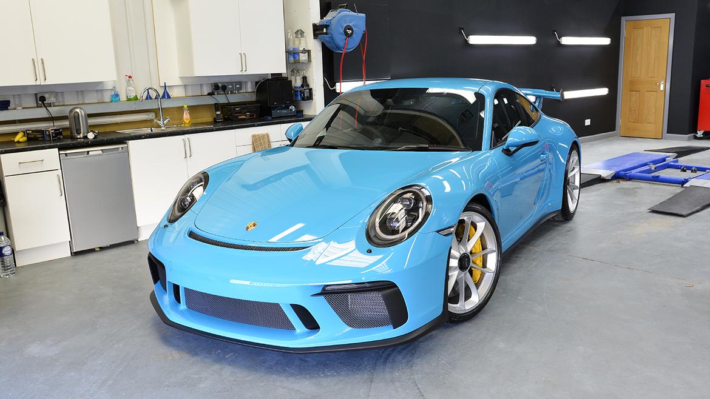 SunTek Ultra PPF & Gtechniq Protection for a Miami Blue Porsche 991.2 GT3 | Exclusive Car Care 27