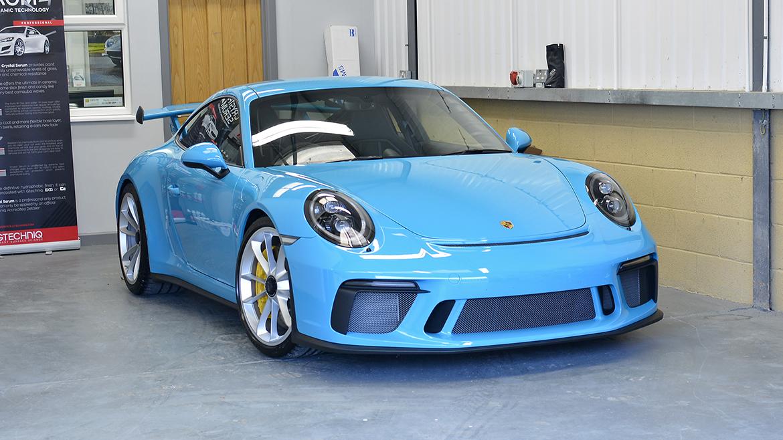 SunTek Ultra PPF & Gtechniq Protection for a Miami Blue Porsche 991.2 GT3 | Exclusive Car Care 28