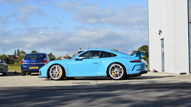 SunTek Ultra PPF & Gtechniq Protection for a Miami Blue Porsche 991.2 GT3 | Exclusive Car Care 38